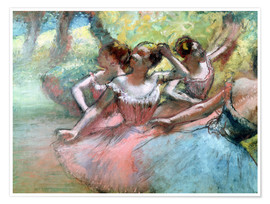 Poster Four ballerinas on the stage