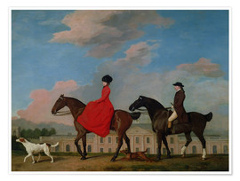 Premium poster  John and Sophia Musters riding at Colwick Hall - George Stubbs