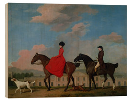 Wood print  John and Sophia Musters riding at Colwick Hall - George Stubbs