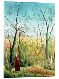 Acrylic print  The Walk in the Forest - Henri Rousseau