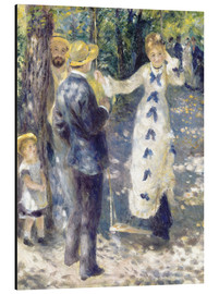 Aluminium print  The Swing - Pierre-Auguste Renoir