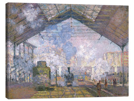 Canvas  The Gare St. Lazare - Claude Monet