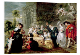 Foam board print  The Garden of Love - Peter Paul Rubens