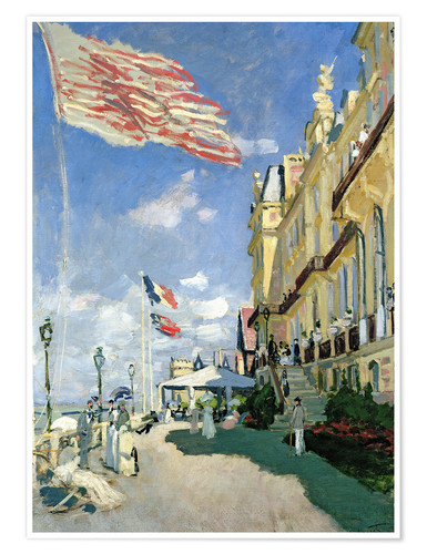 Premium poster The Hotel des Roches Noires at Trouville