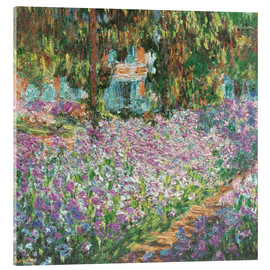 Acrylic print  The Artist's Garden at Giverny - Claude Monet