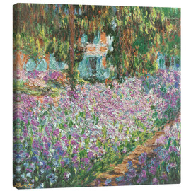 Canvas  The Artist's Garden at Giverny - Claude Monet