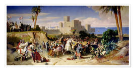 Premium poster  The capture of Beirut by the Crusaders in 1197 - Alexandre-Jean-Baptiste Hesse