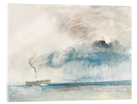 Acrylic print  Steamboat in a Storm - Joseph Mallord William Turner