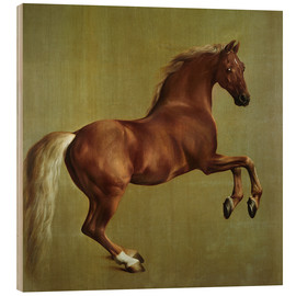 Wood print  Whistlejacket - George Stubbs