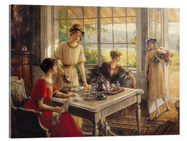 Acrylic glass  Women Taking Tea - Albert Lynch