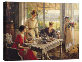 Canvas print  Women Taking Tea - Albert Lynch