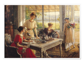 Premium poster  Women Taking Tea - Albert Lynch
