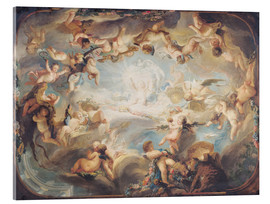 Acrylic print  The Triumph of Cupid over all the Gods - Gabriel de Saint-Aubin