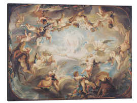Aluminium print  The Triumph of Cupid over all the Gods - Gabriel de Saint-Aubin