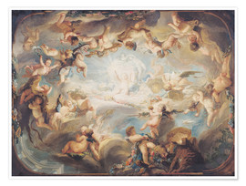 Premium poster  The Triumph of Cupid over all the Gods - Gabriel de Saint-Aubin