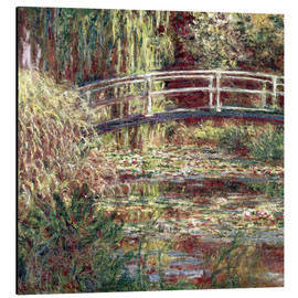 Aluminium print  Waterlily Pond: Pink Harmony - Claude Monet