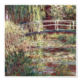 Premium poster  Waterlily Pond: Pink Harmony - Claude Monet