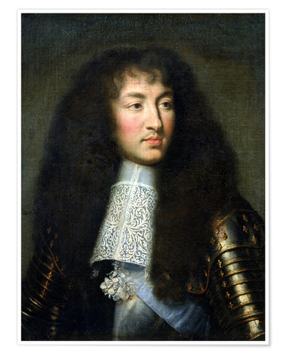Premium poster Portrait of Louis XIV
