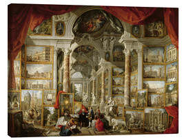 Canvas print  Gallery with Views of Modern Rome - Giovanni Paolo Pannini