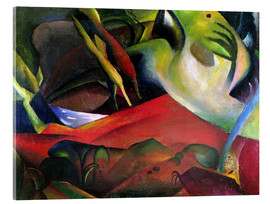 Acrylic print  The Storm - August Macke