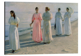 Aluminium print  Ladies on the beach - Michael Peter Ancher
