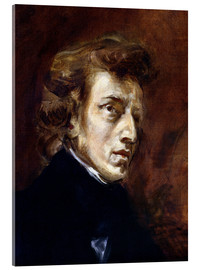 Acrylic glass  Frederic Chopin - Eugene Delacroix