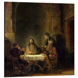 Aluminium print  The Supper at Emmaus - Rembrandt van Rijn