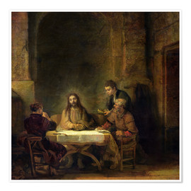 Premium poster The Supper at Emmaus