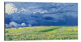 Alu-Dibond  Wheatfields under Thunderclouds - Vincent van Gogh