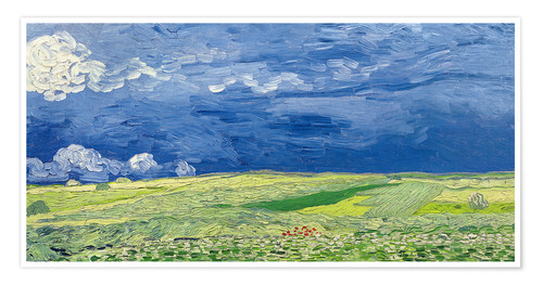 Poster Wheatfields under Thunderclouds