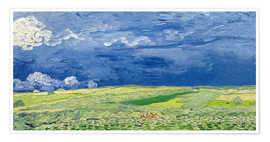 Premium poster Wheatfields under Thunderclouds