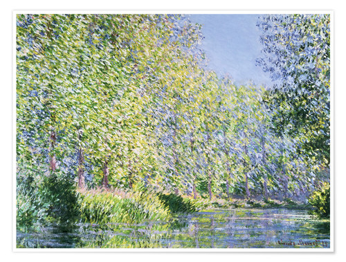 Premium poster Bend the Epte near Giverny