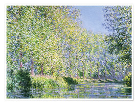 Premium poster  Bend the Epte near Giverny - Claude Monet