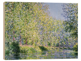 Wood print  Bend the Epte near Giverny - Claude Monet