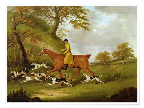 Premium poster Huntsman and Hounds