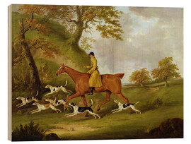 Wood print  Huntsman and Hounds - John Nott Sartorius