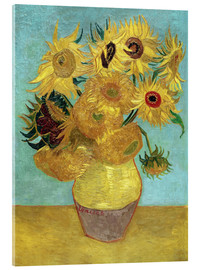 Acrylic glass  Sunflowers - Vincent van Gogh