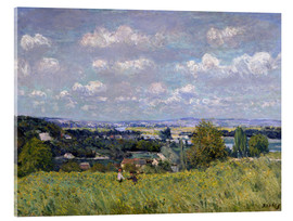 Acrylic print  The Valley of the Seine at Saint-Cloud - Alfred Sisley