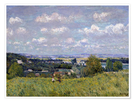 Premium poster  The Valley of the Seine at Saint-Cloud - Alfred Sisley