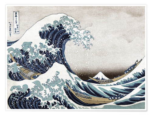 Premium poster The Great Wave of Kanagawa