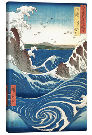 Canvas print  View of the Naruto whirlpools, Awa - Utagawa Hiroshige