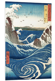 Foam board print  View of the Naruto whirlpools, Awa - Utagawa Hiroshige