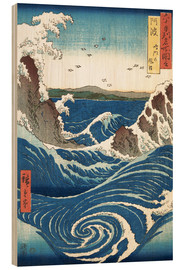 Wood print  View of the Naruto whirlpools, Awa - Utagawa Hiroshige
