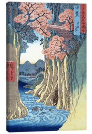 Canvas print  The Monkey Bridge in the Kai Province - Utagawa Hiroshige
