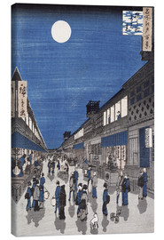Canvas print  Night view of Saruwaka Street - Utagawa Hiroshige