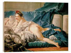 Wood print  The Odalisque - François Boucher