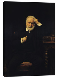Canvas  Portrait of Victor Hugo - Leon Joseph Florentin Bonnat