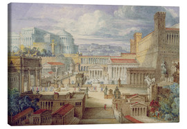 Canvas print  A Scene in Ancient Rome - Joseph Michael Gandy