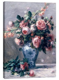 Canvas print  Vase of Roses - Pierre-Auguste Renoir