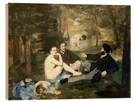 Wood print  Breakfast outdoors - Edouard Manet